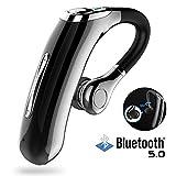 Bluetooth ヘッドセット V5.0 片耳 超大容量バッテリー、超長時間通話 、CSRチップ搭載 マイク内蔵 ハンズフリー通話Scms-t ガラケー iOS, android (黒)