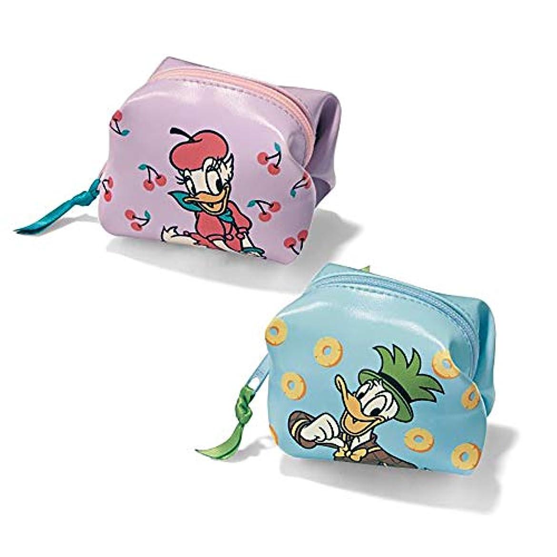 [ベルメゾン] ディズニー 化粧ポーチ ポーチ 小物入れ ミニポーチ2個セット カラー ドナルド&デイジー