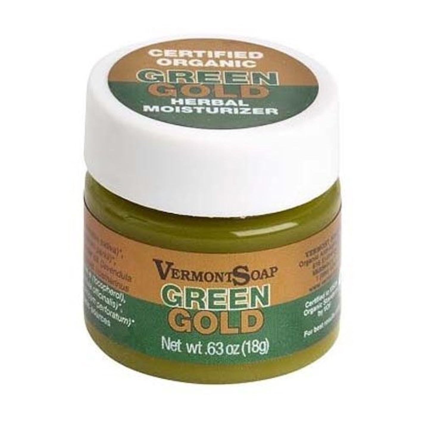 光沢のある執着一致するバーモントソープ オーガニック保湿クリーム グリーンゴールドS