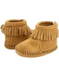 [ミネトンカ] Minnetonka ベビー VELCRO BACK FLAP BOOTIE ベビーシューズ(SOFT SOLE)