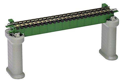 TOMIX Nゲージ デッキガーダー橋 F 深緑 PC橋脚 2本付 3241 鉄道模型用品