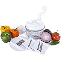 Kitchen + Home Miracle Chopper Manual Food Processor - Salsa Maker, Food Chopper, Mixer, Blender and Salad Spinner by Kitchen + Home