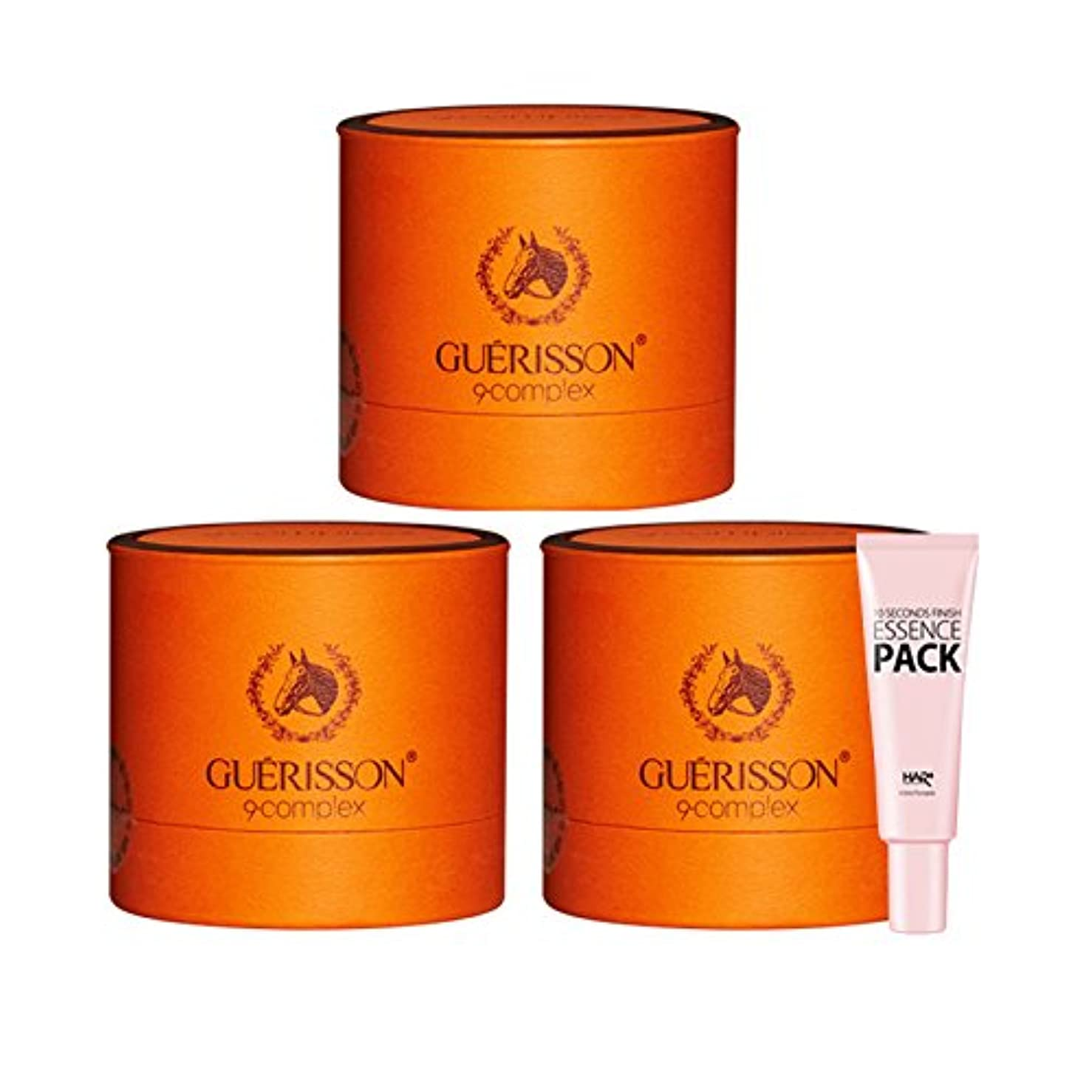 GUERISSON ゲリソン 9?complex 馬油クリーム 70g x 3個 (9 Complex Moisturizing Scar Cream Horse Oil Wrinkle Care) +ヘアプラスエッセンスパック...