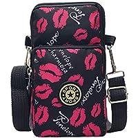 3-Layers Zipper Cellphone Pouch Wristlet Purse Running Waterproof Sports Armband Crossbody Bag