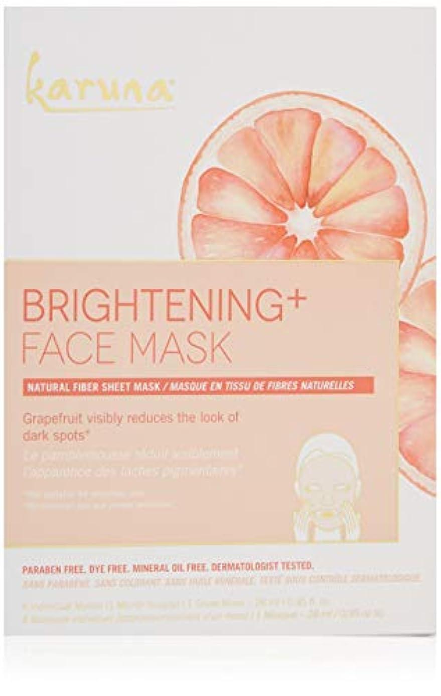 どっちガレージ傷つけるKaruna Brightening+ Face Mask 4sheets並行輸入品