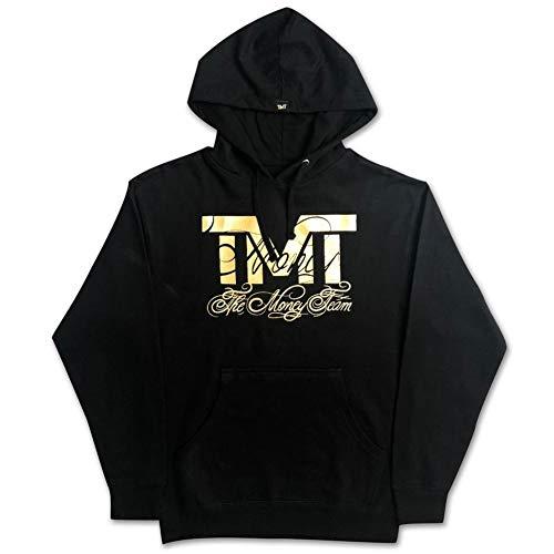 (ザ・マネーチーム) THE MONEY TEAM TMT 正規輸入品 tmt-mo30-3kg THE MONEY TEAM ザ・マネーチーム パーカーRINGSIDE GOLD 黒ベース×金ロゴ フロイド・メイウェザー ボクシング 男性 メンズ