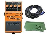 BOSS TURBO Distortion DS-2 + 3m ギターケーブル VOX VGS-30+クロス セット
