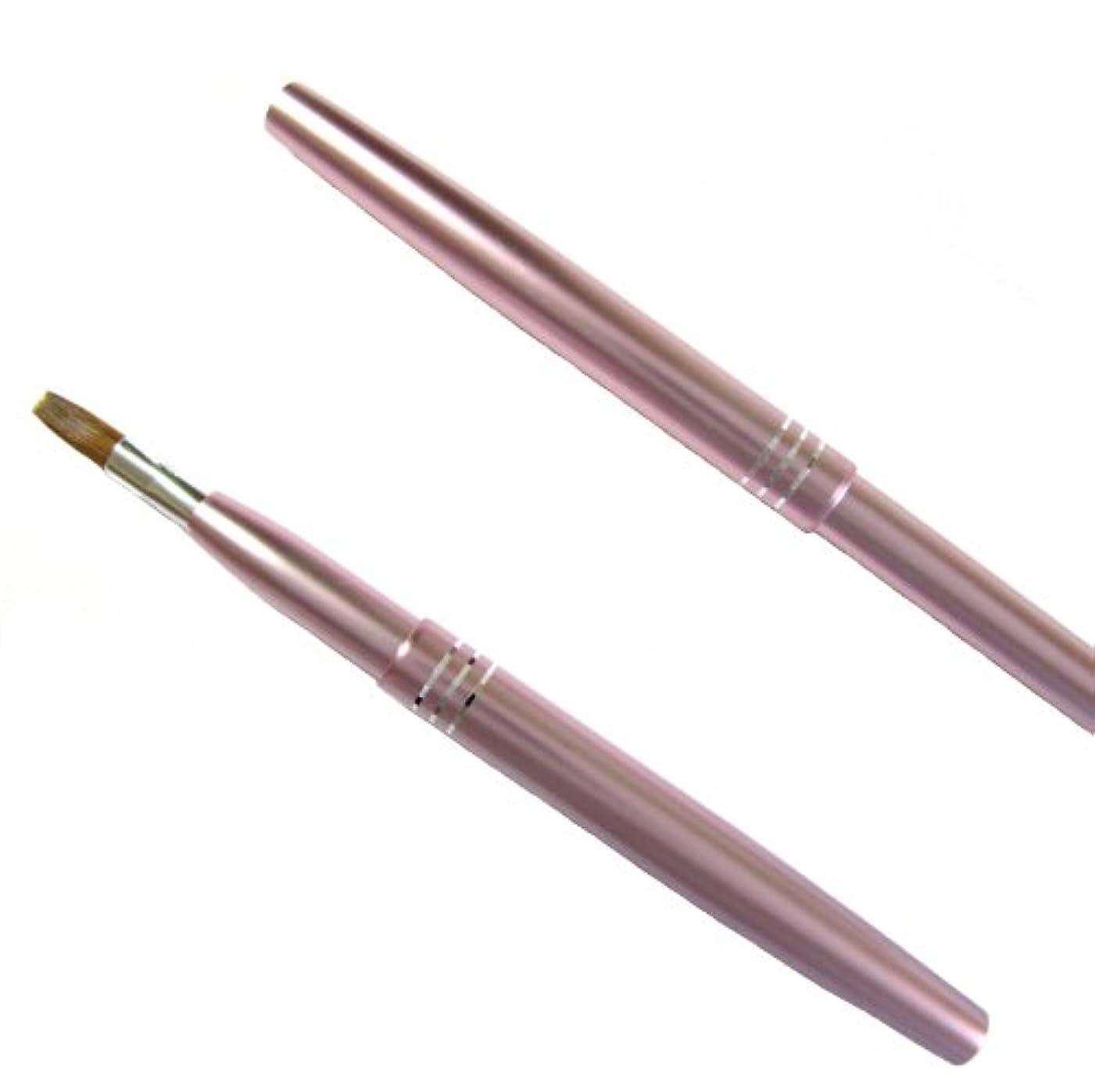 コントラスト野心的小康携帯リップブラシ 新色パールピンク/熊野化粧筆