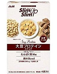 アサヒグループ食品 スリムアップスリム 大豆プロテインスナック(黒糖きな粉) 96g(24g×4袋)