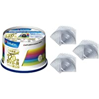 三菱ケミカルメディア Verbatim 1回録画用DVD-R(CPRM) VHR12JP50V4 (片面1層/1-16倍速/50枚)+クリアケース付き