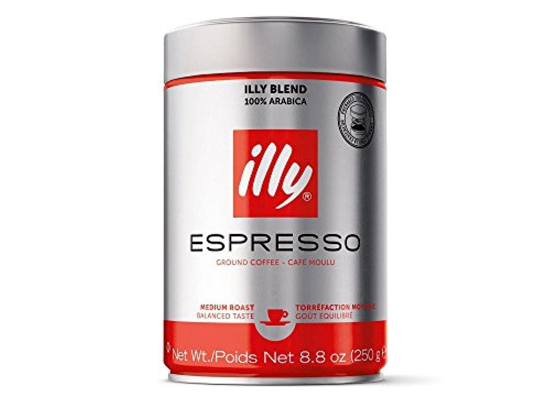 illy Espresso Medium Roast Ground Coffee エスプレッソミディアムローストグラウンドコーヒー250g [並行輸入品]