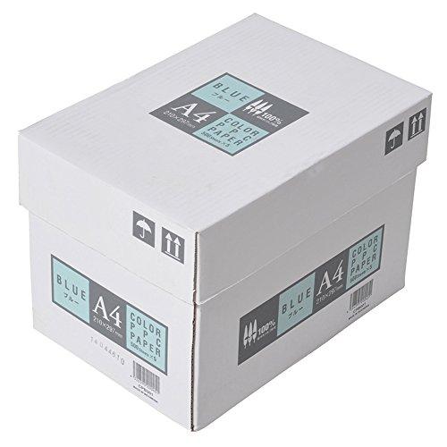 ジャパン カラーコピー用紙 A4 2500枚 500枚×5冊 ブルー