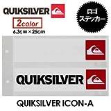 QUIKSILVER クイックシルバー ステッカー QUIKSILVER ICON-A XQOA364 BLK