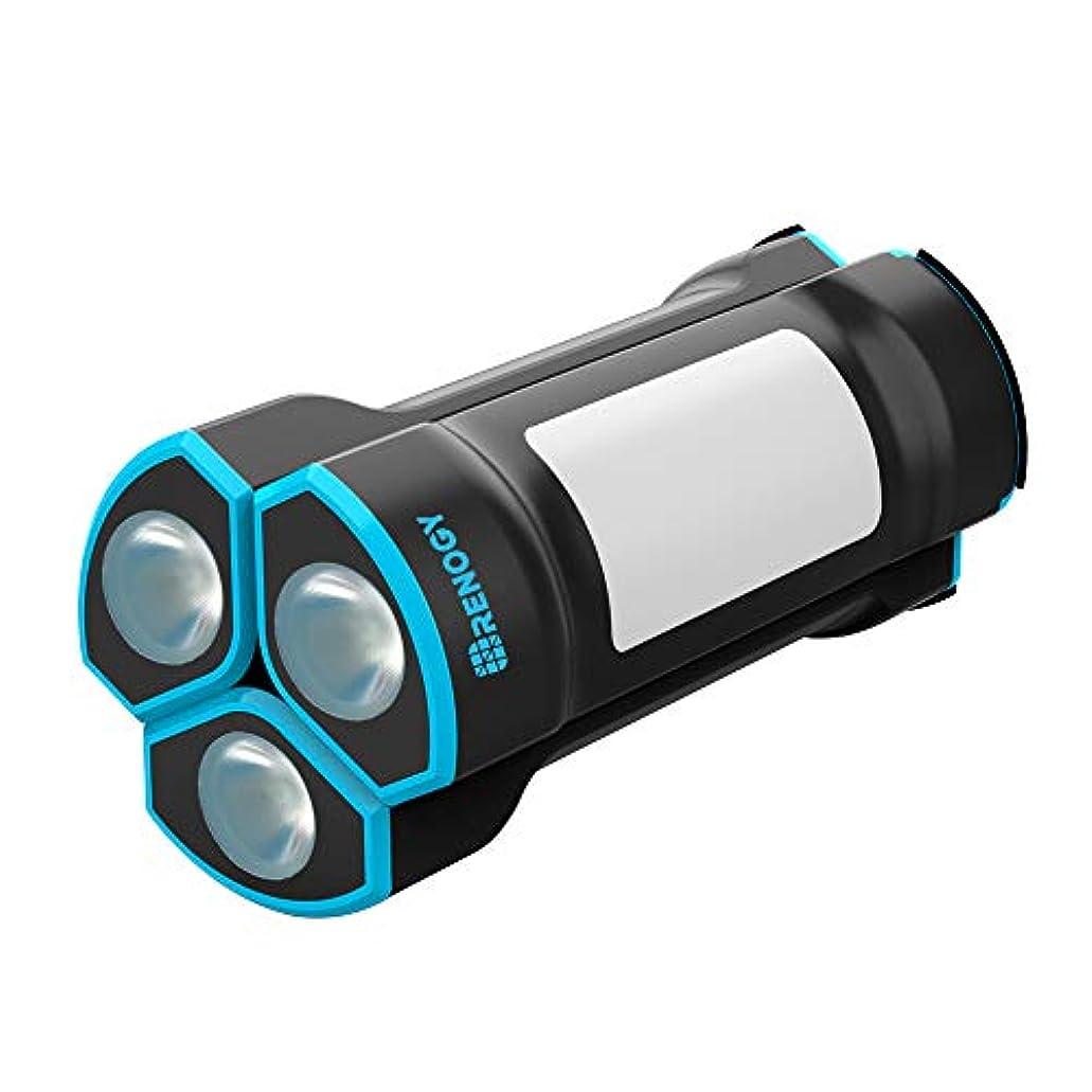 買うテラスシュガーRENOGY 懐中電灯 ユニット式 IP65防水 2600mAhモバイルバッテリー 防災用品 ハイキング【一年間保証付き】
