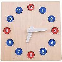 ラーニングタイム クロック 知育玩具 時計 時間 木のおもちゃ 時計パズル 数字 学習玩具 幼児 入園 入学 小学生 オモチャ お誕生日プレゼント 男の子 女の子 積み木 木製 玩具
