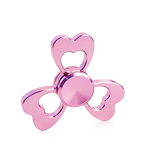 CrazyFire ハンドスピナー EDCおもちゃ フォーカス玩具 カワイイ 指先ジャイロ 女性向け アルミ製 ボールベアリング ストレス解消 ピンク