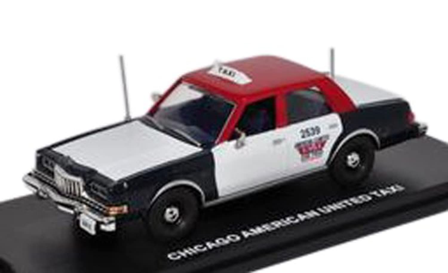 FIRST RESPONSE 1/43 Dodge Diplomat Chicago Taxi 1985 (Red/White/Blue) 完成品