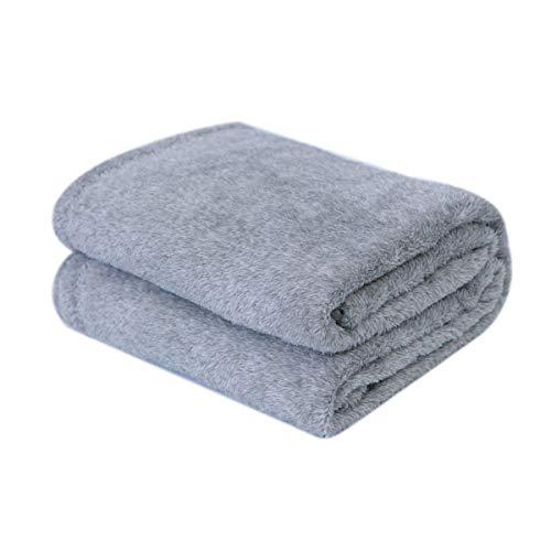 sea-maid 毛布 ブランケット ひざかけ 掛け毛布 軽量 あったか ふんわり 柔らか シングル(140×200cm)通気/吸湿/静電気防止/洗える (グレー)