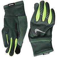 (ナイキ) NIKE メンズ手袋?グラブ?グローブ Therma-Fit Elite Run Gloves Vintage Green/Volt/Silver M