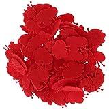 Homyl 約100個 ミニ ビー 蜂 ハチ ナイロン製 DIY 手作り材料 4色選べる  - 赤