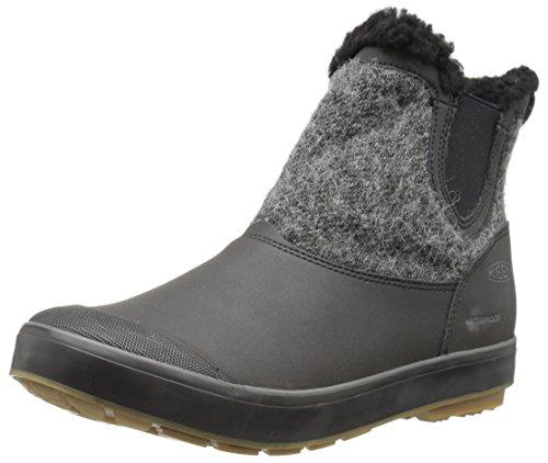 [キーン] KEEN レディース 防水ウィンターブーツ Elsa Chelsea WP Black Wool 23cm(US 6)   1017961