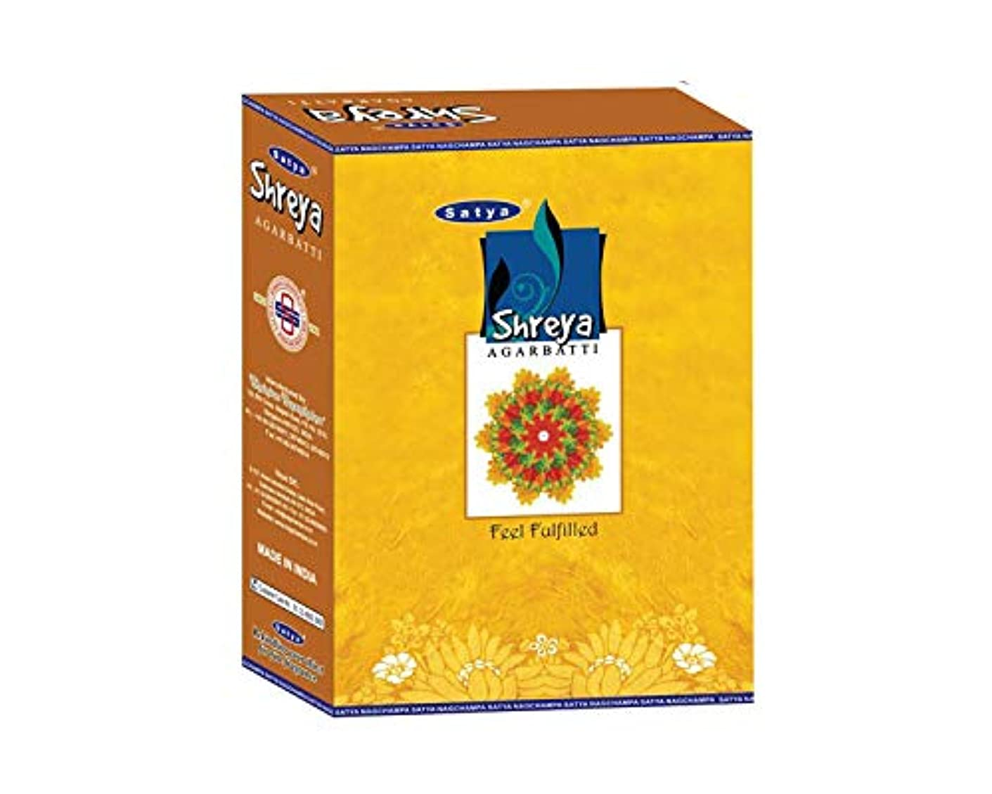 細いアセンブリ愛撫Satya Shreya Incense Sticksボックス240 gmsボックス