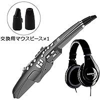 Roland Aerophone AE-10G Graphite Black (グラファイトブラック) サイレントセット (ウインドシンセサイザー + ヘッドホン + OP-AE10MP 交換用マウスピース) 初心者セット (ローランド AE10G)