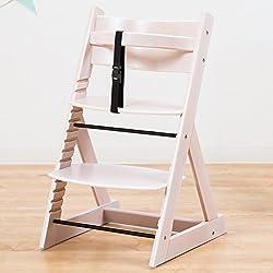 笑顔のダイニングベビーチェアー 木製椅子 安心強度の三角形ベース 【マジカルチェア】 ホワイトウォッシュ