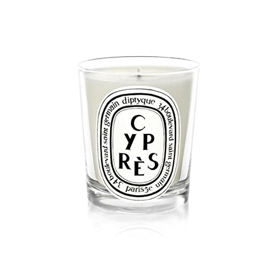 リダクター文字サイレントDiptyqueキャンドルCypr?s/ヒノキ190グラム - Diptyque Candle Cypr?s / Cypress 190g (Diptyque) [並行輸入品]