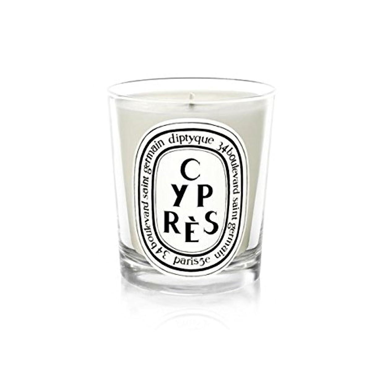 断言する矛盾協同DiptyqueキャンドルCypr?s/ヒノキ190グラム - Diptyque Candle Cypr?s / Cypress 190g (Diptyque) [並行輸入品]