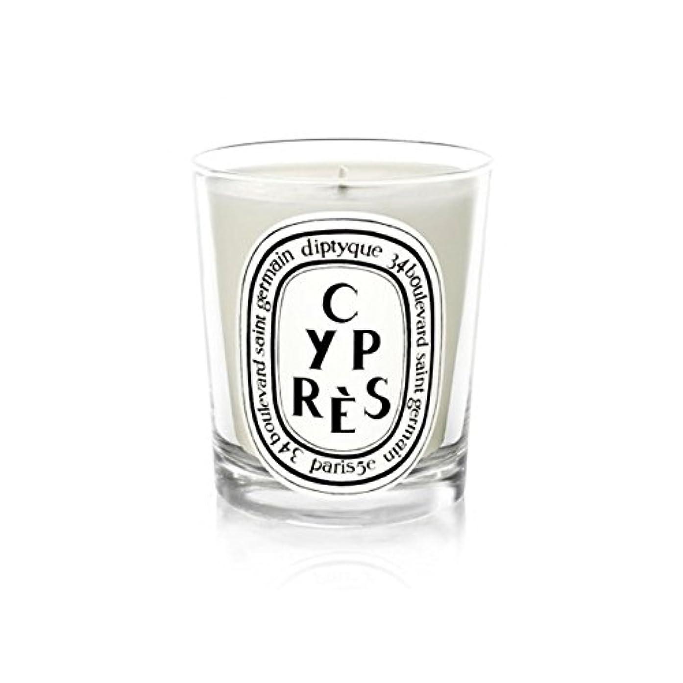 逆説百年インフルエンザDiptyqueキャンドルCypr?s/ヒノキ190グラム - Diptyque Candle Cypr?s / Cypress 190g (Diptyque) [並行輸入品]