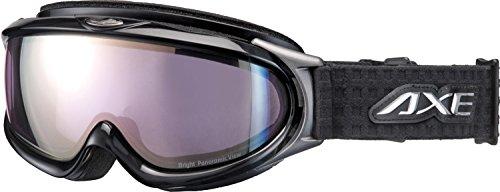 AXE(アックス) スキー・スノーボードゴーグル UVカット メンズ オールラウンド ピンクミラーレンズ ブラック AX888-WPK