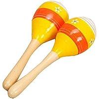 0~1歳の2匹の赤ちゃん幼児カラフルな木製のラットル教育玩具