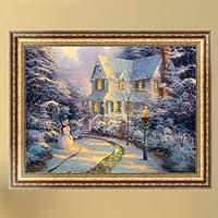 DIY 5D Diamond Snow House Painting Cross Stitch Kit Embroidery Home Decor