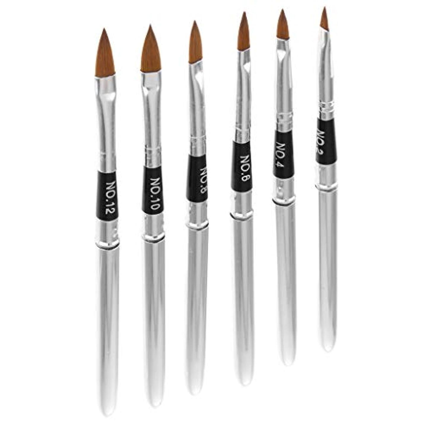 野な意外セーターネイルアートペン ペンブラシ ネイルブラシ 3D 絵画ペン ネイルデザイン ツール 6個入り