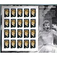 Lucille Ball: I Love Lucy Legends of Hollywood Stamps Full Sheet of 20 x 34 Cent Stamps Scott 3523 by USPS