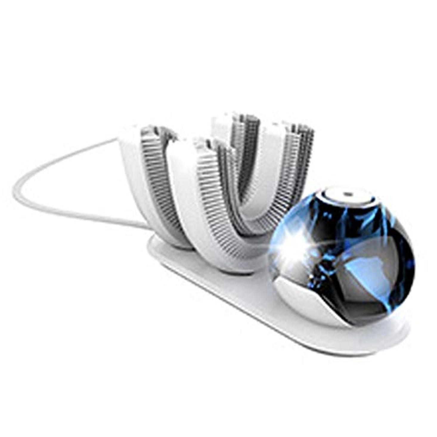 マグ信頼できる木製電動歯ブラシ、U字型歯ブラシの頭、超音波歯ブラシ、ワイヤレス充電音波歯ブラシ、防水IPX7