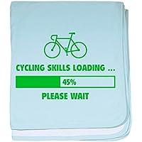 CafePress – CyclingスキルLoading – スーパーソフトベビー毛布、新生児おくるみ ブルー 067995042925CD2