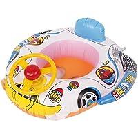 quaanti 1pc夏赤ちゃんインフレータブルプールリングLap Swim Seat FloatボートBaby Swimプールおもちゃ車形状Aidトレーナーwithホイールホーン Quaanti