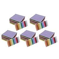 sharprepublic 不織布 15x15cm DIY工芸品 手芸用 クラフト 手作り 装飾 アクセサリー 約200セット ランダム色