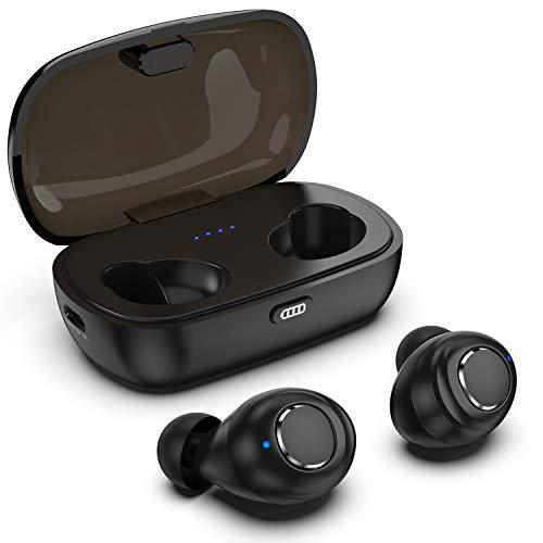ワイヤレスブルートゥースイヤホン Bluetooth5.0 Muyudam TWSイヤホン 充電収納ケース付 HiFi音質 42時間連続駆動 IPX6級防水 自動ペアリング 音量を調節 DSP,AAC ワイヤレスステレオiPhone Android 対応