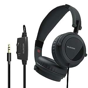 エレコム ヘッドホン テレビ用 5m 音量調整付 オーバーヘッド Affinity sound 断線に強いメッシュケーブル 5.0m ブラック EHP-TV10O5BK