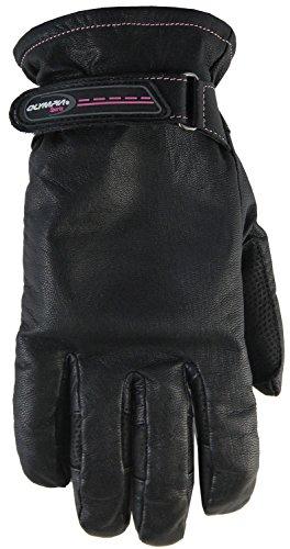 オリンピアスポーツレディースラインローズタッチ手袋 S ブラック 110LT Small