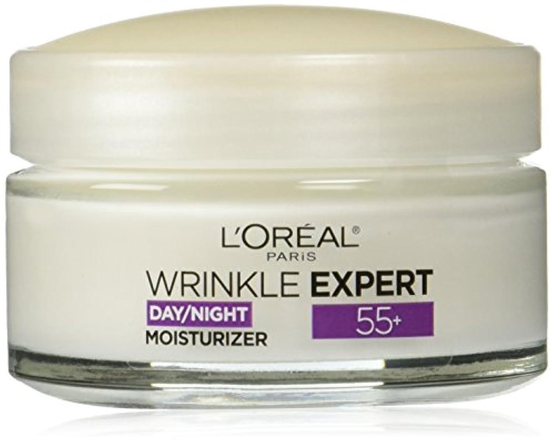 吸い込む脚本家交じるL'Oreal Paris Wrinkle Expert 55+ Day/Night Moisturizer, 1.7 oz(48g) ロレアル リンクルエキスパート55+