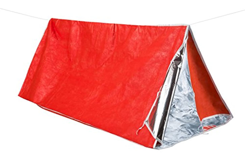 トレーニングピア一部ATEPA エマージェンシーテント ヒートシート 両用 ブランケット 簡易テント サバイバルシート 防寒 緊急用 防災用品 1-2人用 AA5003