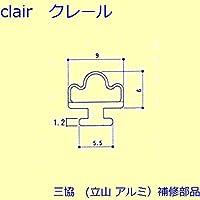 三協アルミ 補修部品 雨戸 気密材(枠)[3K2381] [KC]ブラック *製品色・形状等仕様変更になる場合があります*