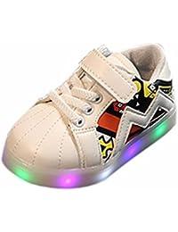 Aijoo ?? ベビーシューズ キッズ 子供 幼児 男の子 女の子 おしゃれ ニーカー 光る ライト靴 電池含め ピカピカ 可愛い カジュアル ゆったり 抗菌防臭 滑り止め靴 通気性 室内履き LEDライト付き