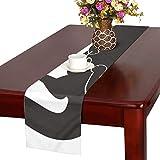 GGSXD テーブルランナー すばしこい黒い猫 クロス 食卓カバー 麻綿製 欧米 おしゃれ 16 Inch X 72 Inch (40cm X 182cm) キッチン ダイニング ホーム デコレーション モダン リビング 洗える