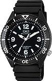 [シチズン Q&Q] 腕時計 アナログ ソーラー 防水 ウレタンベルト H064-001 メンズ ブラック