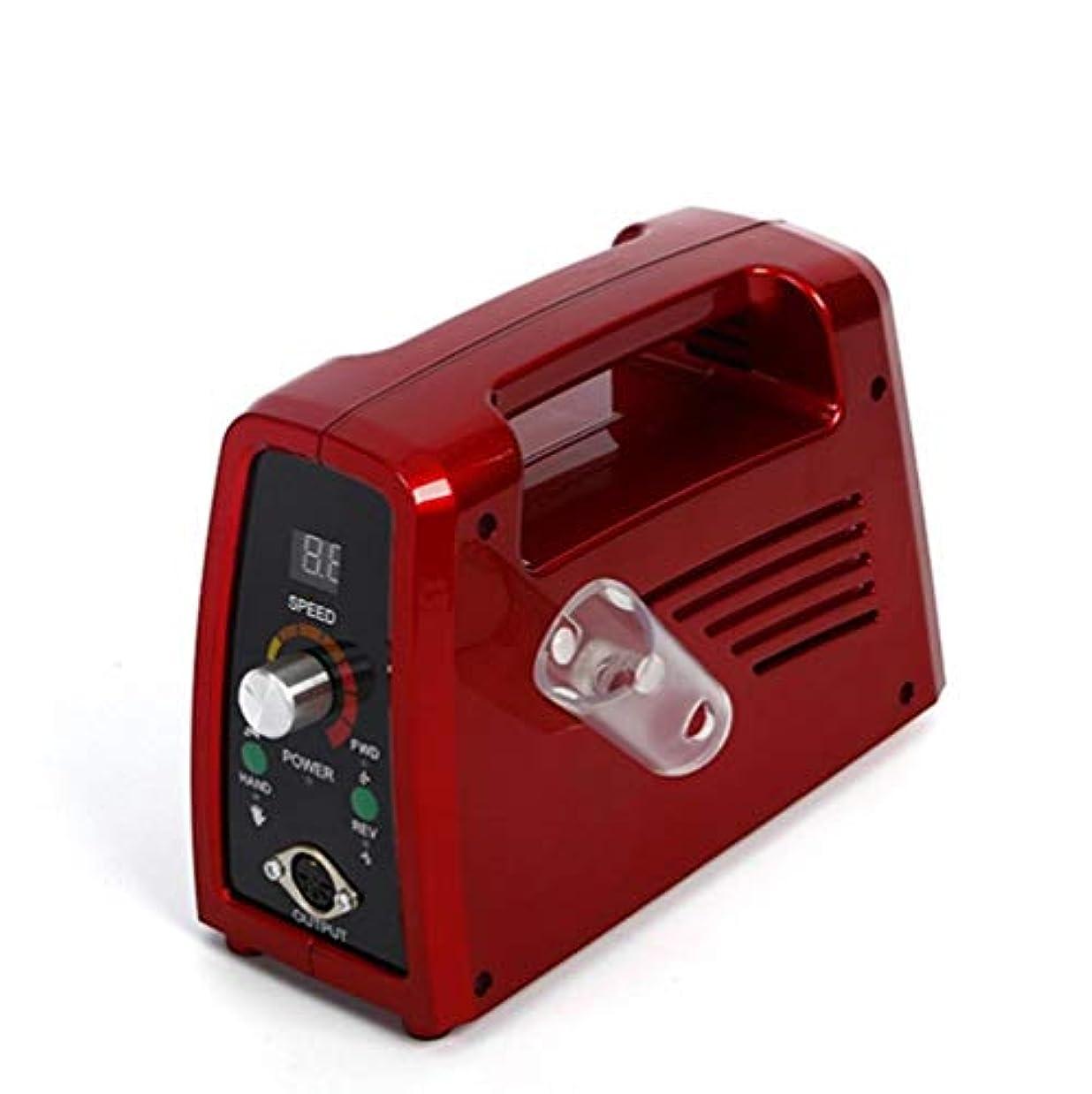 リネンタイト一時的電気35000 rpmネイルドリルプロフェッショナルネイルファイル用アクリルネイル彫刻マニキュアペディキュアマシンニスネイルポリッシャードリルビット液晶ディスプレイ
